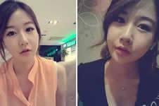 """记录:24岁韩国姑娘""""变脸""""过程"""