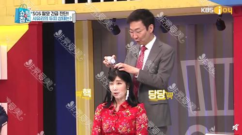 林二石院長在韓國電視節目上演示防脫發毛囊注射