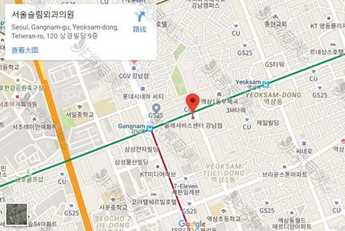 韩国首尔slim外科地址