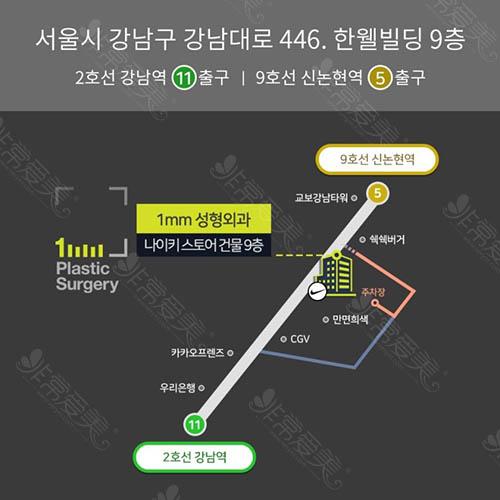 韩国1MM整形外科地址