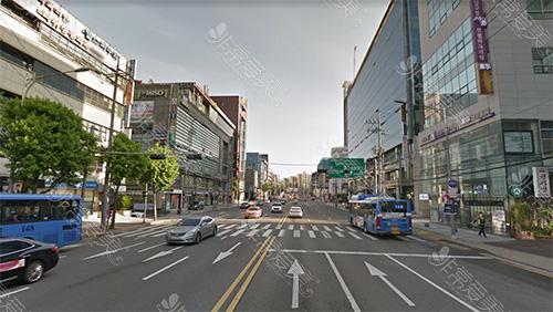 韩国首尔整形一条街图