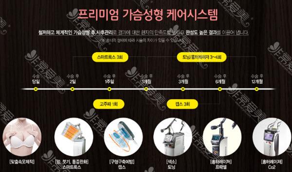 韩国芭堂整形隆胸术后管理项目