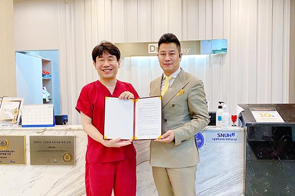恭喜韩国Dr.creamy吸脂医院顺利签约!