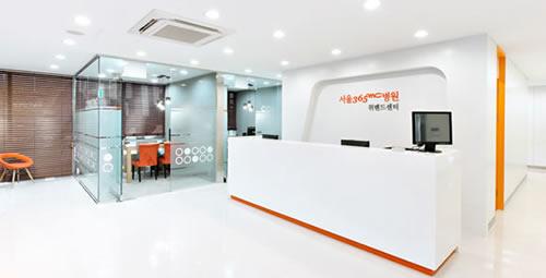 韩国365MC吸脂医院前台