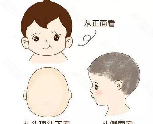 幼儿好看的头型卡通示意图