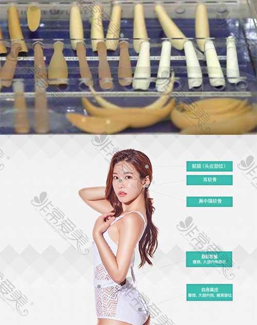 韩国4月31日医院隆鼻常使用材料