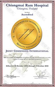 泰国ram医院获得的JCI证书