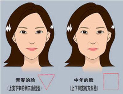 面部衰老对比