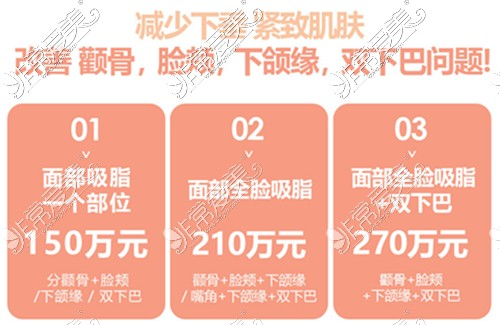 韩国SNOW整形外科全面部吸脂价格表