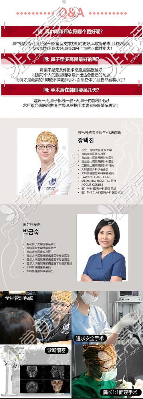 韩国TJ隆鼻医生照片