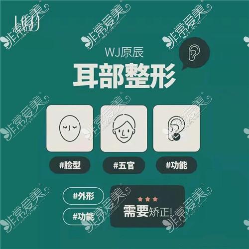 韩国WJ原辰整形外科耳部整形宣传图